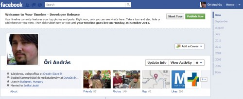 Facebook Timeline Tour 1