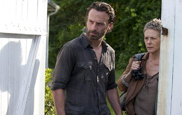 Andrew Lincoln (Rick Grimes) és Melissa McBride (Carol Peletier) a 4. évadban