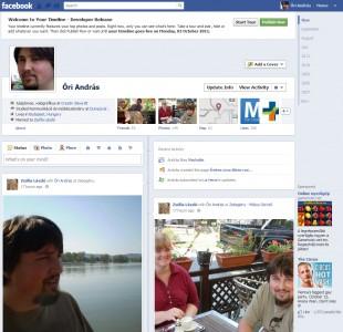 Facebook timeline verzió