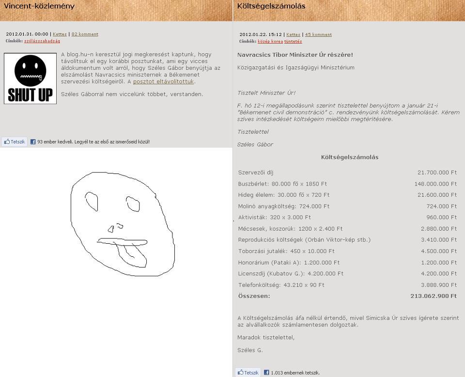Örülünk Vincent blog cenzúra...
