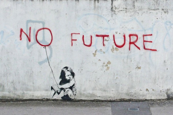 No future by Banksy