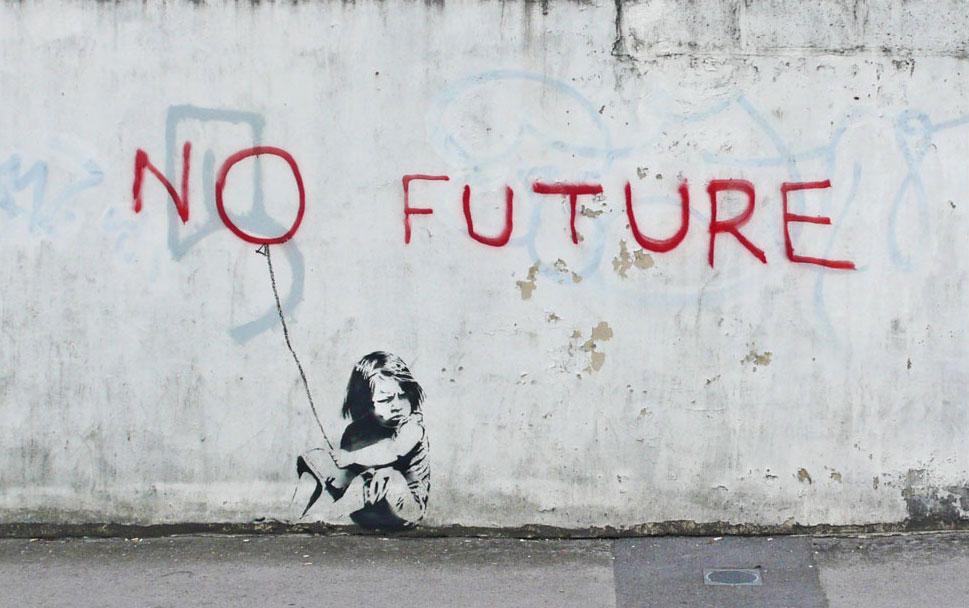 No future by Banksy