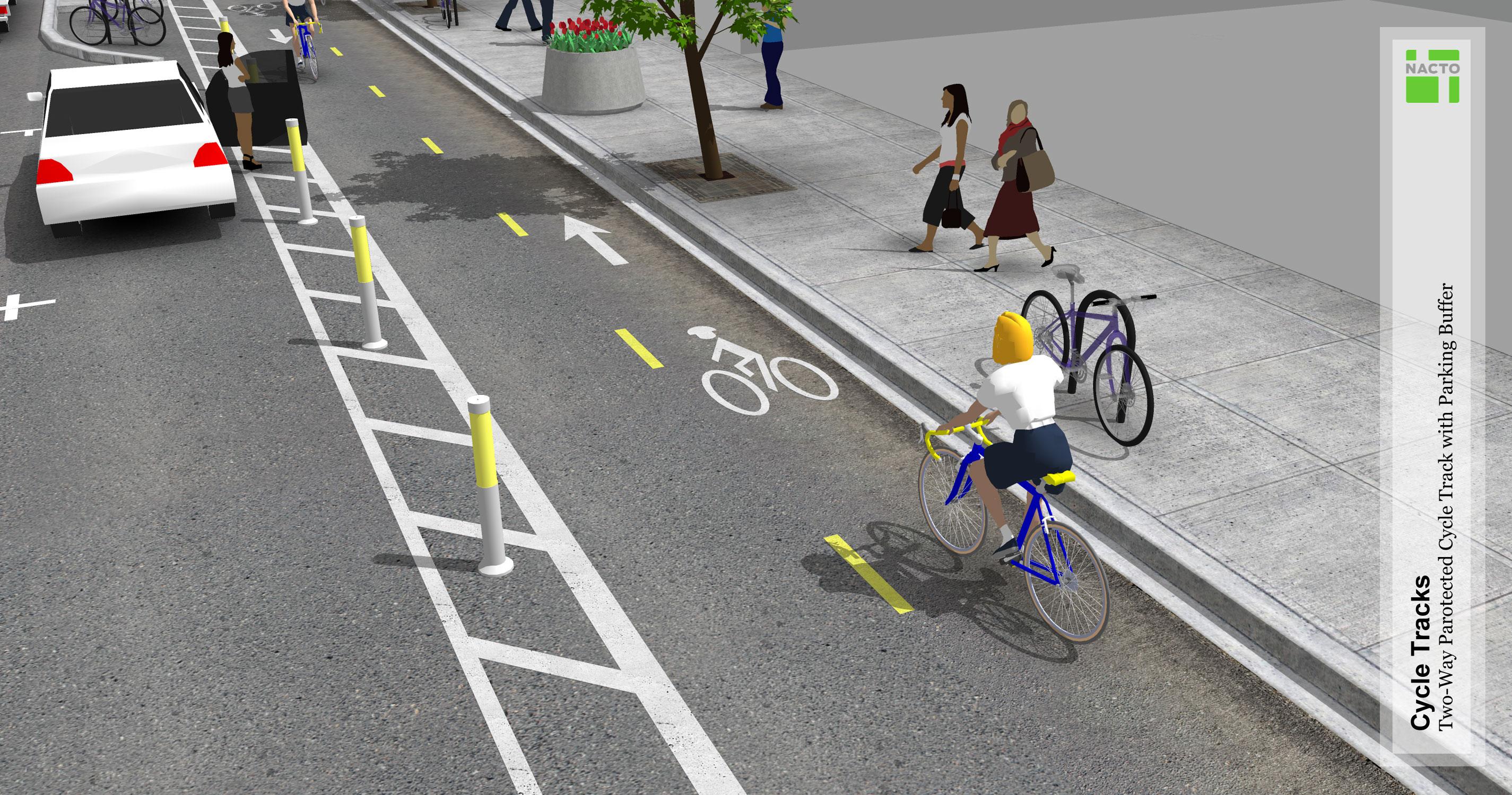 Autó, bicikli és gyalogos