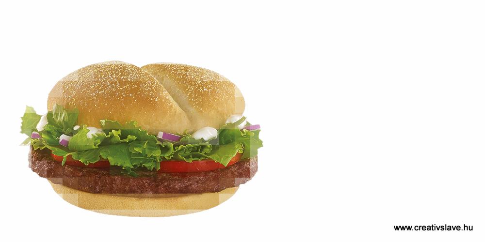 Szürkemarha burger a McDonald'sben.